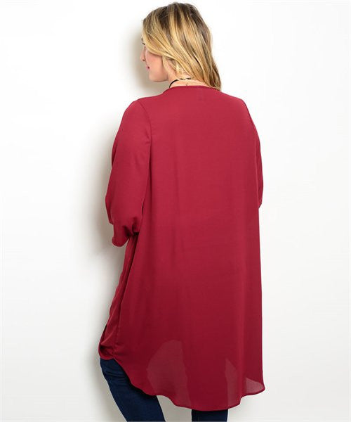 Plus Size Drape Tunic