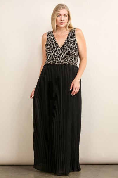 Plus Size Sleeveless Maxi Formal Dress