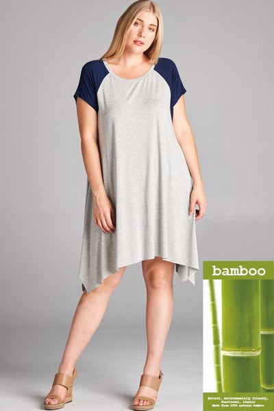 Plus Size Bamboo Knit Midi Dress
