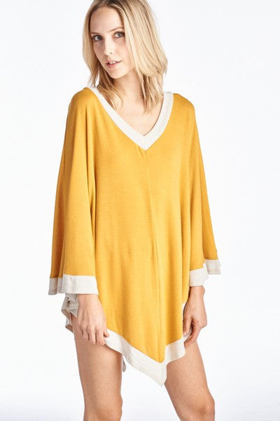 V-Neck Poncho Top