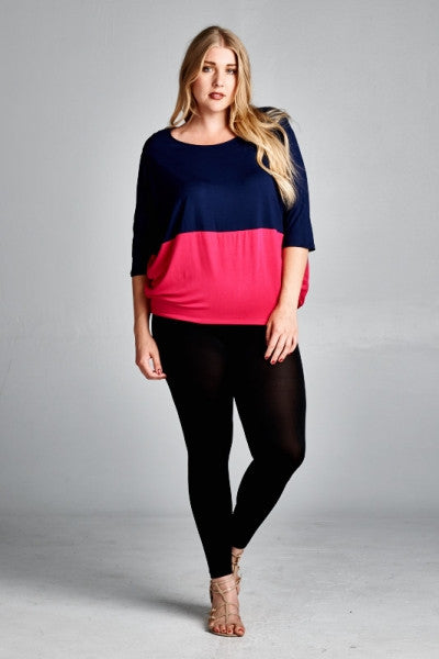 Plus Size Dolman Sleeve Top