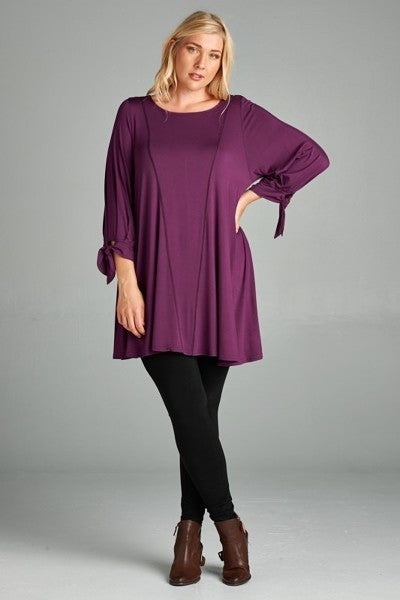 Plus Size Jersey Tunic Top