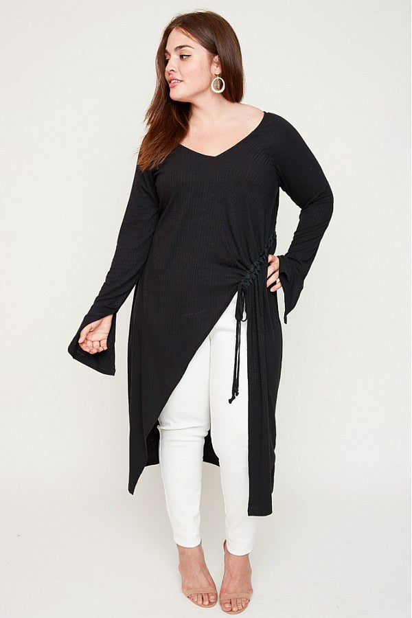 Plus Size Longline Top