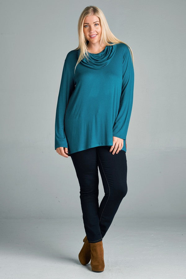Plus Size Rib Knit Top