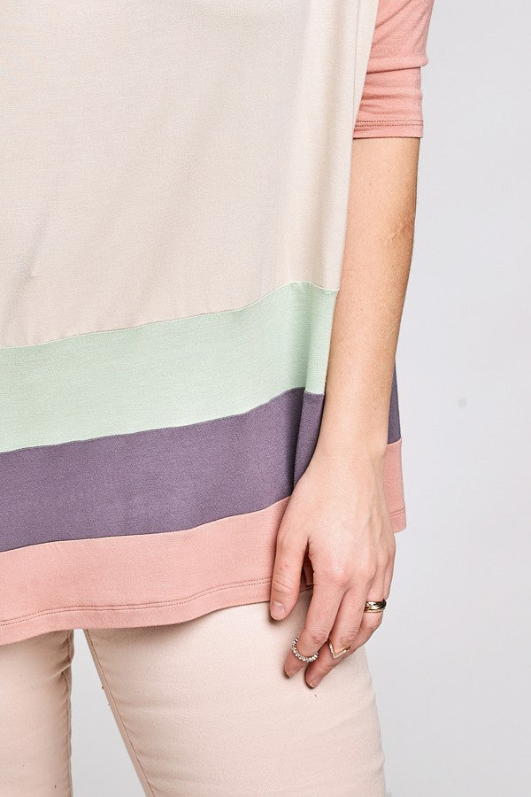 Plus Size Spring Pastel Knit Top