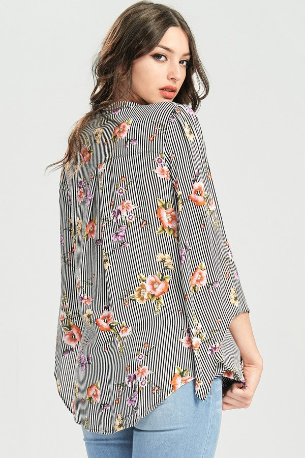 Flirty Floral Blouse