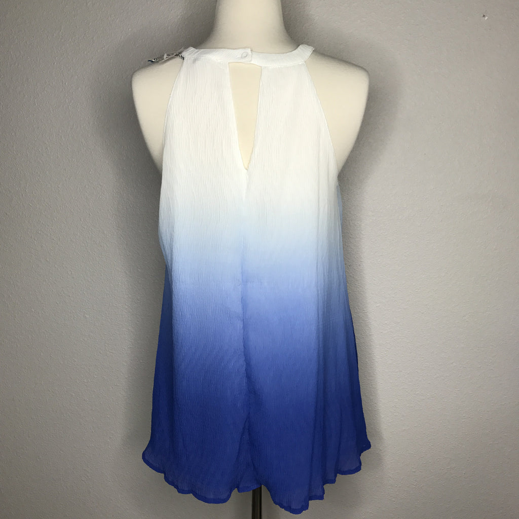 Blue Ombre Sleeveless Top