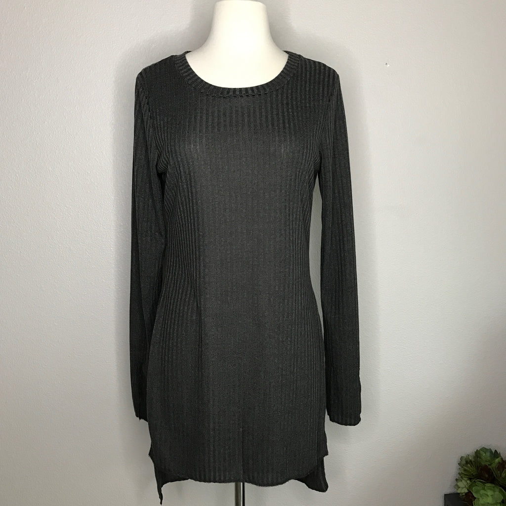 Ribbed Knit Side Split Tunic