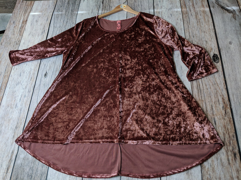Plus Size Blush Velvet Tunic