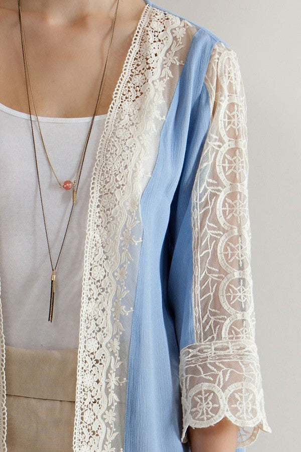 Sheer Lace Duster