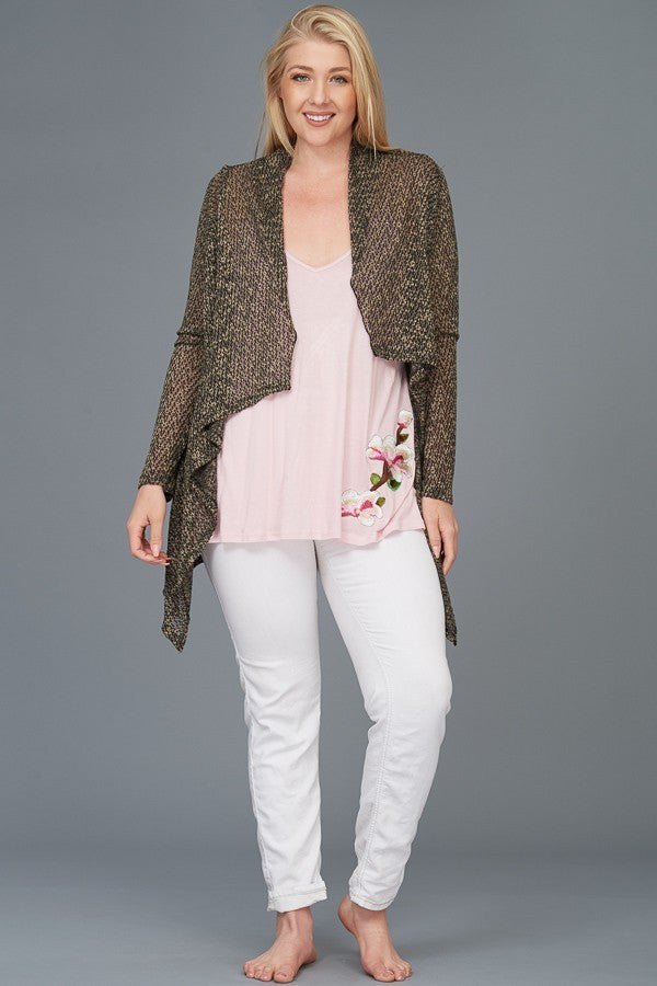 Plus Size Lounge Cardigan