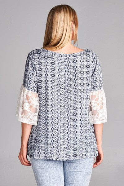Plus Size Romantic Top