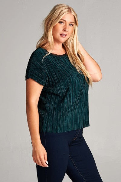 Plus Size Emerald Top
