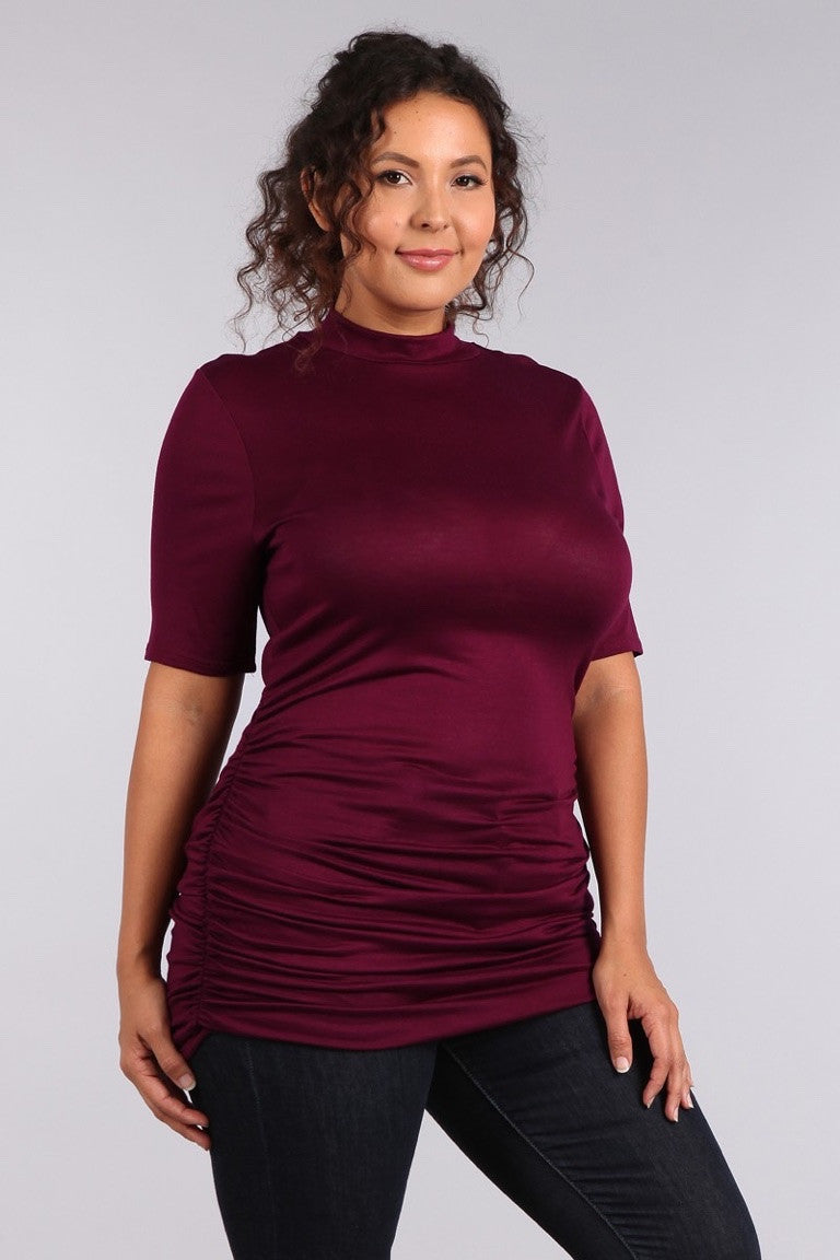 Plus Size Mock Neck Tee