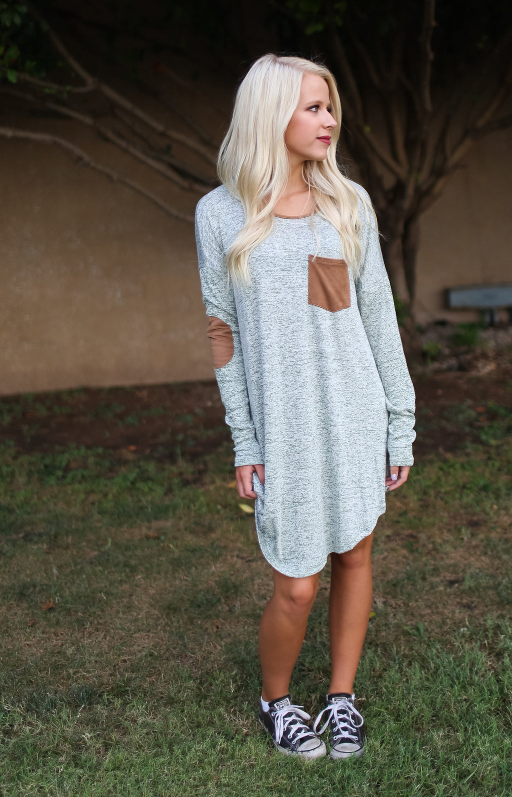 Patch Sweater Dress