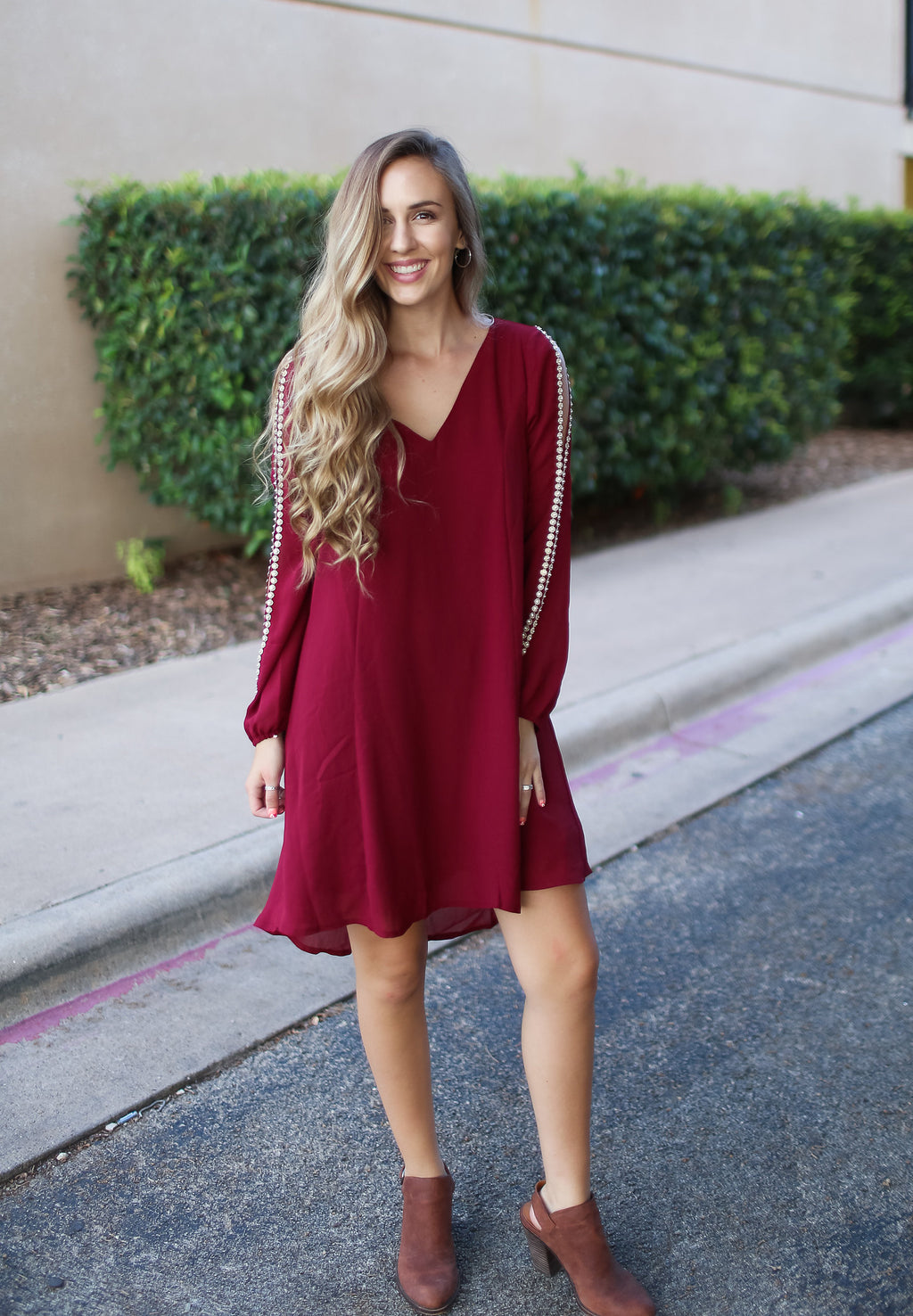 Loose Fit Red Dress