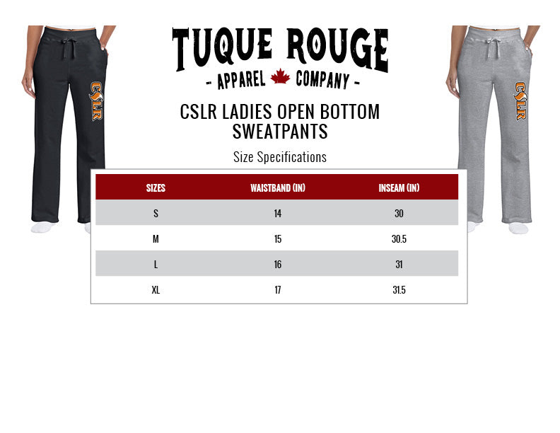Ladies Sweatpants Size Guide