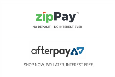 Buy now pay later with afterpay or zippay