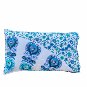 Harmony Blue Cotton Mandala Pillow Set 2Pcs