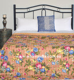 Tropical Gold Kantha Quilt