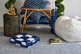 Indigo Tie and Dye Square Floor Cushion