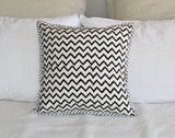 Handmade Hand Block Printed Cushion Cover - Black