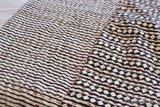 Hand Block Black Diamond Reversible Kantha Quilt