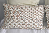 Brown Hand Block Printed  Patchwork Cushion Cover