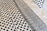Black Polka Dot Kantha Reversible Quilt