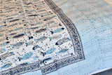 Fish Block Print Kantha Reversible Quilt