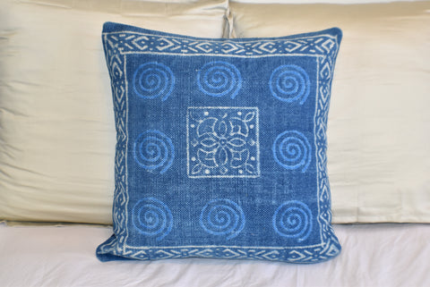 Block Print Heavy Cotton Dari Cushion Cover 60x60cm- IB60-4