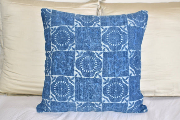 Block Print Heavy Cotton Dari Cushion Cover 60x60cm- IB60-7