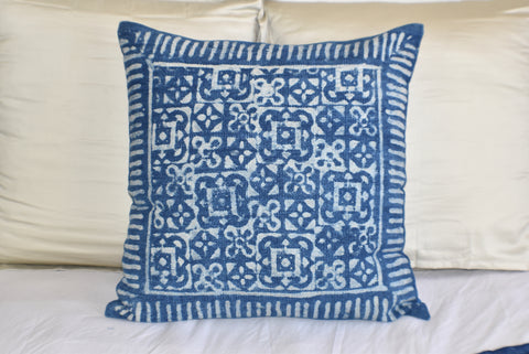 Block Print Heavy Cotton Dari Cushion Cover 60x60cm- IB60-11