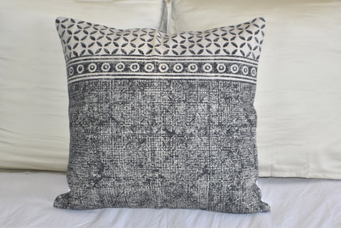Geometrical Block Print Cotton Dari Cushion Cover 60cm