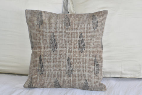 Tree Block Print Cotton Dari Cushion Cover 45cm