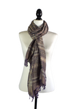 Eco Dye Brown Viscose Hand Dyed Printed Scarf
