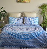 Star Blue Ombre Mandala Duvet Cover