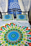 Universe Lime Mandala Throw Set