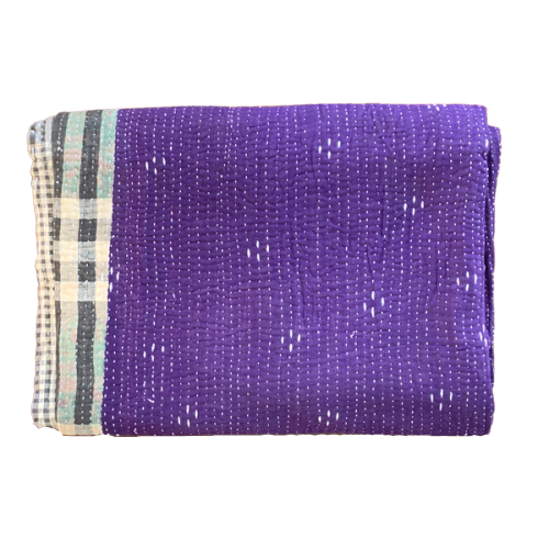 Indian Vintage Hand Made Kantha Quilt Throw Jaya
