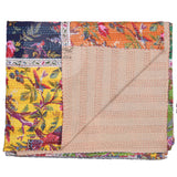 Bird of Prey Patchwork Cotton Kantha Quilt Bedspread