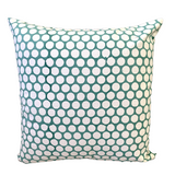 Turquoise Polka Dot Block Print Canvas Cotton Cushion Cover Pillow 2Pcs