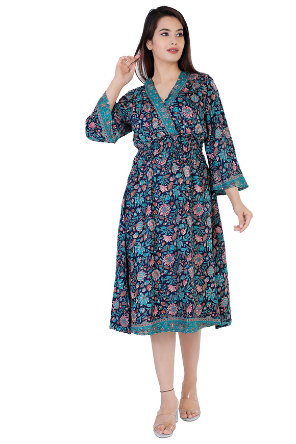 Nora Floral Printed Bohemian Vintage Dress