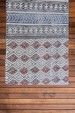 Beautiful Block Print Dari Carpet Passion