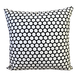 Black Polka Dot Block Print Canvas Cotton Cushion Cover Pillow 2Pcs