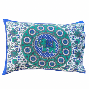 Good Luck Elephant Mandala Pillow Case