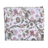 Divinity Floral Printed Cotton Kantha Quilt Bedspread Throw