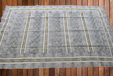 Beautiful Olive Block Print Dari Carpet