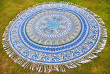 BOP Blue Mandala Beach Round Throw