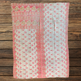 Indian Handmade Vintage Cotton Kantha Quilt Bedspread Throw- Asha