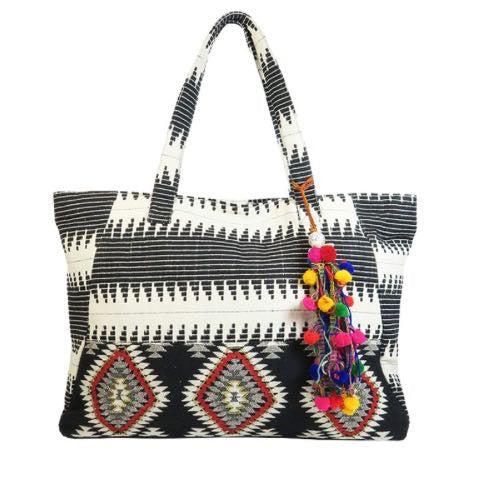 Boho Hippie B&W Bag